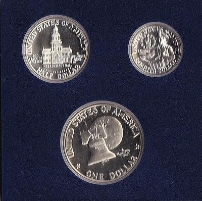 Набор из 3 монет 1976 S США. 200 лет независимости.
