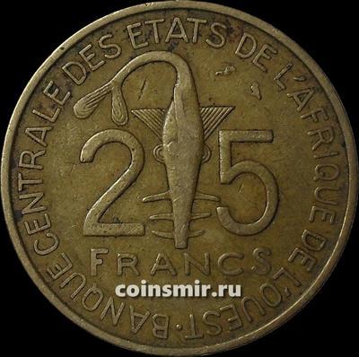 25 франков 1970  КФА BCEAO (Западная Африка).