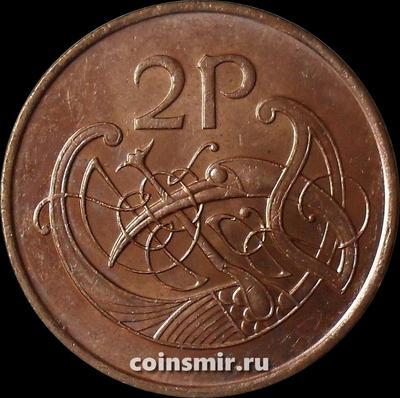 2 пенса 2000 Ирландия. Стилизованная птица.