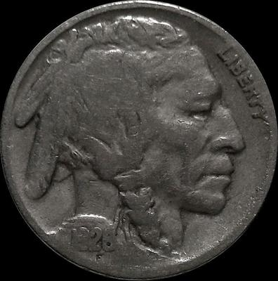 5 центов 1928 США. Индеец.