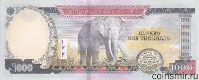 1000 рупий 2016 Непал.