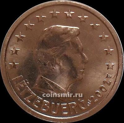 2 евроцента 2002 Люксембург. Великий герцог Люксембурга Анри.