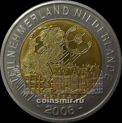 Жетон. Чемпионат Европы 2008. Австрия.  Страна-участник Нидерланды.