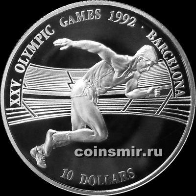 10 долларов 1990 острова Кука. Олимпиада в Барселоне 1992.