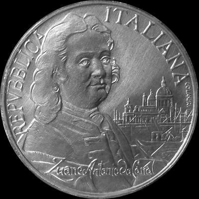 5000 лир 1997 Италия. Джованни Антонио Каналь. Буклет.