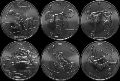 Набор из 6 монет 2019 Япония. Летняя олимпиада и паралимпиада в Токио 2020.