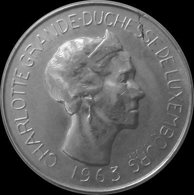 100 франков 1963 Люксембург. Великая герцогиня Шарлотта (1918 - 1964).