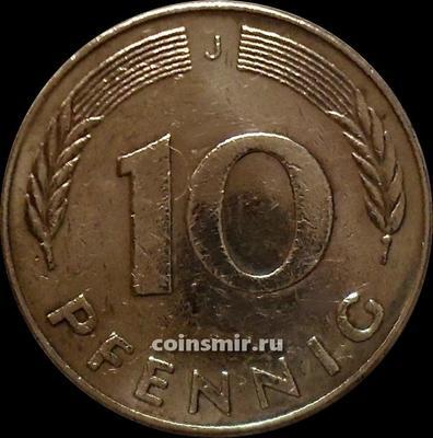 10 пфеннигов 1978 J Германия ФРГ.
