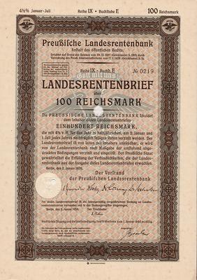 Облигация 4,5% 100 рейхсмарок 2.01.1935 Германия. Третий рейх.