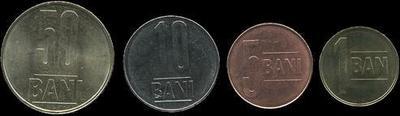 Набор из 4 монет 2005 Румыния. (в наличии 2015 год)