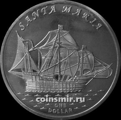 1 доллар 2016 острова Гилберта. Санта Мария.