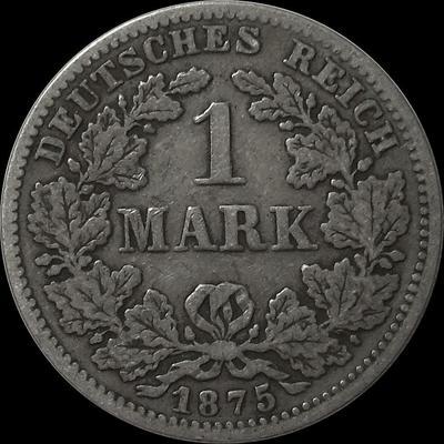 1 марка 1875 Германия.