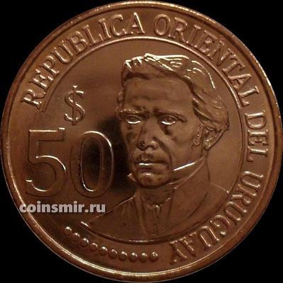 50 песо 2011 Уругвай. 200 лет независимости Уругвая.