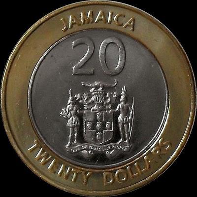 20 долларов 2000 Ямайка. UNC.