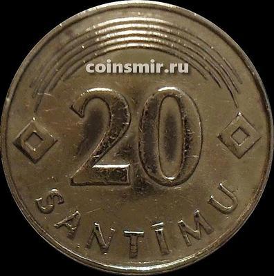 20 сантимов 1992 Латвия. VF