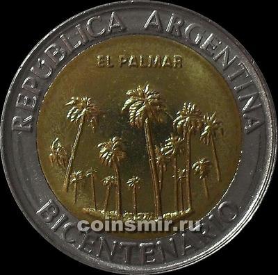 1 песо 2010  Аргентина. 200 лет независимости. Эль Пальмар.