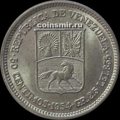 50 сентимо 1954 Венесуэла.