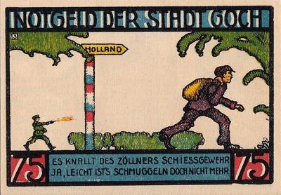 75 пфеннигов 1922 Германия г.Гох (Вестфалия). Нотгельд.