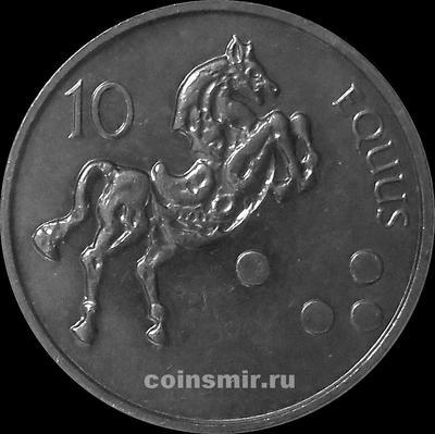 10 толаров 2002 Словения.