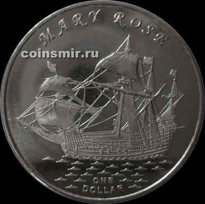 1 доллар 2015 острова Гилберта. Мэри Роуз.
