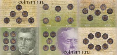 Набор из 38 монет 5 песо 2008-2010 Мексика.