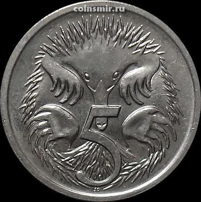5 центов 1988 Австралия. Ехидна.