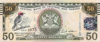 50 долларов 2006 (2012) Тринидад и Тобаго. 50 лет независимости.