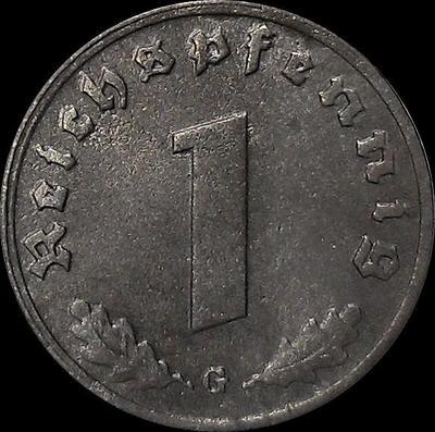 1 пфенниг 1942 G Германия. Третий рейх.