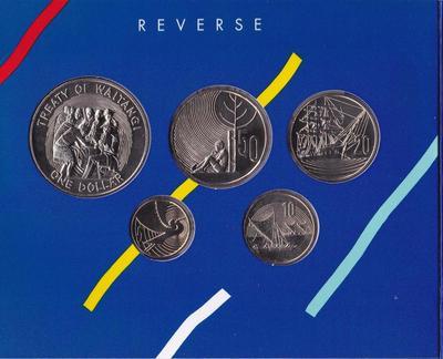 Набор из 5 монет 1990 Новая Зеландия. Празднование годовщины. Буклет.