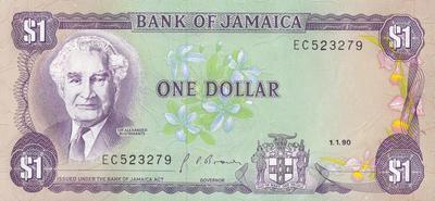 1 доллар 1990 Ямайка.