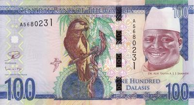 100 даласи 2015 Гамбия.