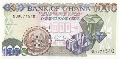 1000 седи 2003 Гана.