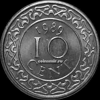 10 центов 1989 Суринам.
