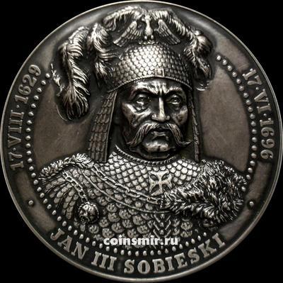 Настольная медаль Ян III Собеский. Битва при Вене 12 сентября 1683.