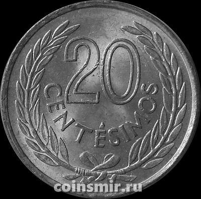 20 сентесимо 1965 Уругвай.