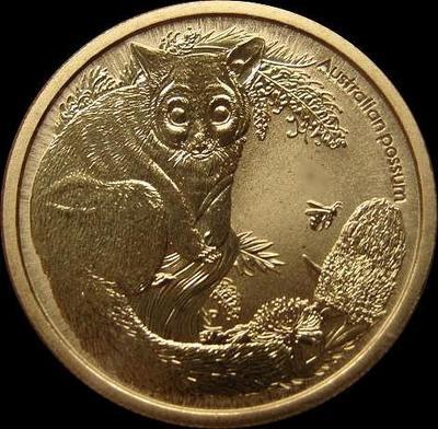 1 доллар 2013 Австралия. Австралийский поссум.