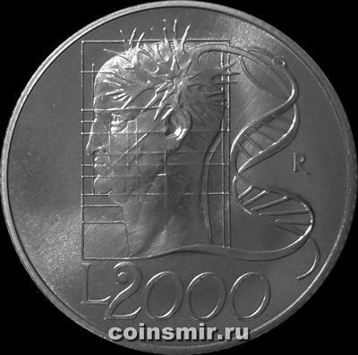 2000 лир 1998 Италия. Миллениум - ДНК.