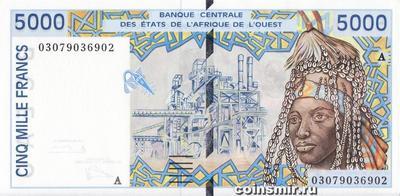 5000 франков 2003 А КФА ВСЕАО. (Западная Африка)