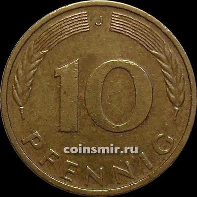 10 пфеннигов 1994 J Германия ФРГ.