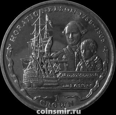 1 крона 2005 Фолклендские острова. Адмирал Горацио Нельсон.