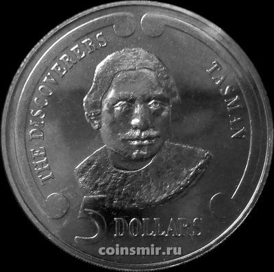 5 долларов 1992 Новая Зеландия. Первооткрыватели - Абел Тасман.