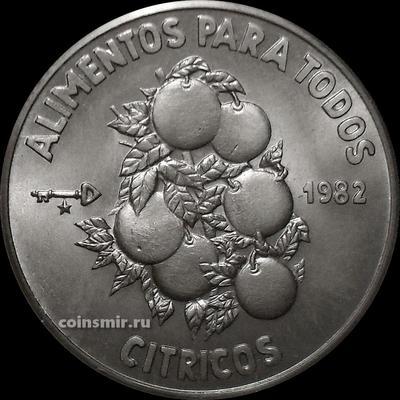 1 песо 1982 Куба. Цитрусовые. ФАО.