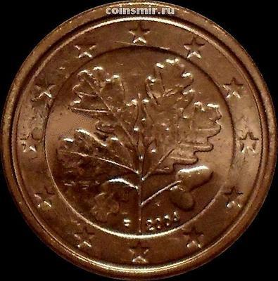1 евроцент 2004 F Германия.