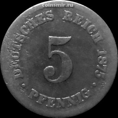 5 пфеннигов 1875 В Германия.