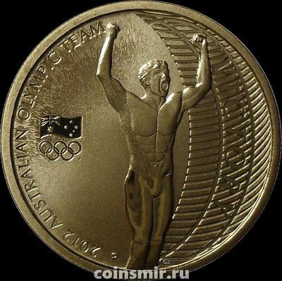 1 доллар 2012 Австралия. Летняя олимпиада в Лондоне 2012. Австралийские золотые медалисты. Пловец.