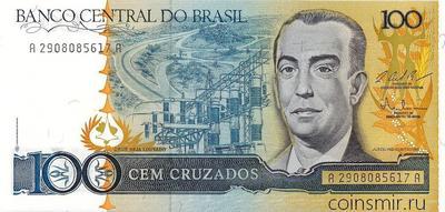 100  крузадо 1986 - 1988  Бразилия.