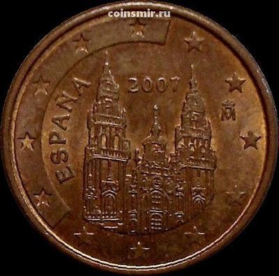 1 евроцент 2007 Испания.