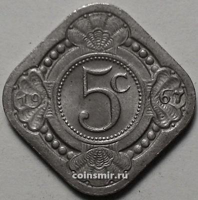 5 центов 1967 Нидерландские Антильские острова.