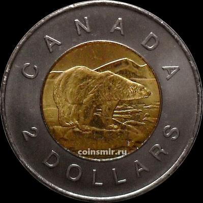 2 доллара 2011 Канада. Белый медведь.