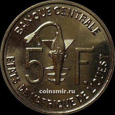 5 франков 2014 КФА BCEAO Западная Африка.